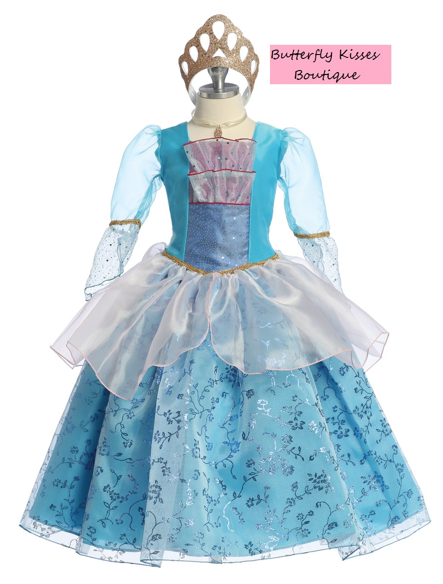 Deluxe Little Mermaid Princess Toddler Girls Costume · Butterfly ...