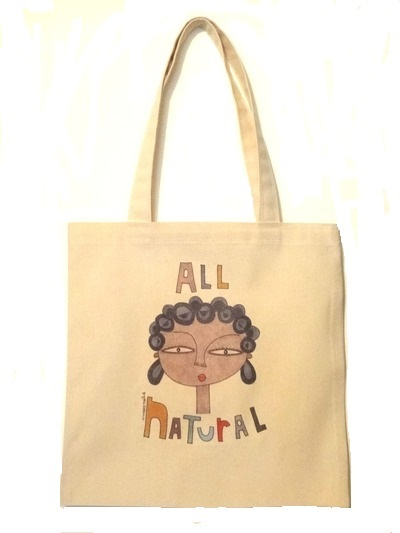 "Adult Tote Bag - ""All Natural"""