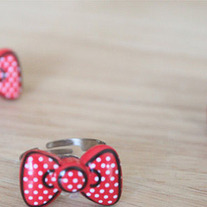 Minnie Mouse Inspired Bow Ring