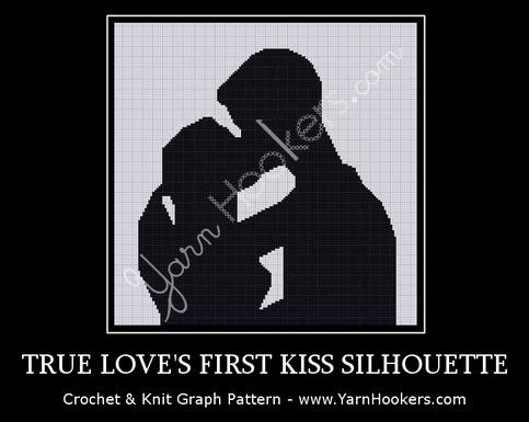True Love S First Kiss Silhouette Afghan Crochet Graph