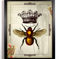 Image of The Queen Bee Antique Illustration 8 x 10