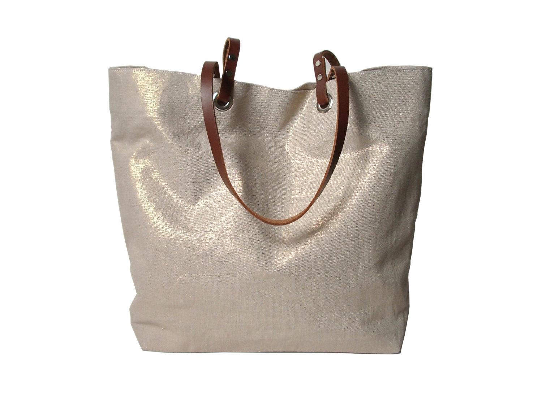 Metallic Linen Tote Bag, Beach Bag · Independent Reign · Online ...