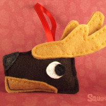Felt Reindeer Christmas Ornament, Felt Animal Ornament - Dancer the Reindeer