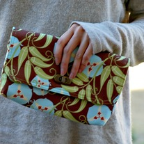 Mini Clutch - Mint Blue and Lime - Mother's Day Special - Was $45 Now $36
