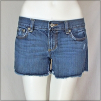Ultra Low Rise Denim Shorts