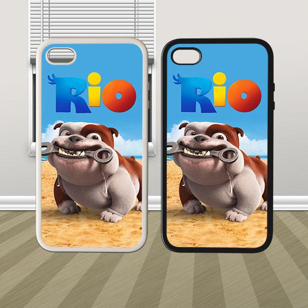 Luiz Funny Dog In Rio Hybrid iPhone 4 4s 5 5s 5c Case Cover Hard