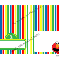Elmo Sesame Street Food/Drink Tent Cards