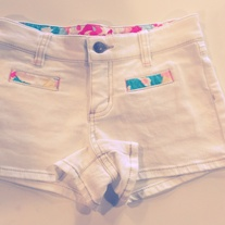 Juicy Couture White Patchwork Denim Short