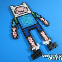 Adventure Time Finn the Human Custom Designed Perler Bead Sprite Decoration