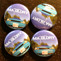 "(2) 1"" 'MA Glory' Pins (ltd. /100)"