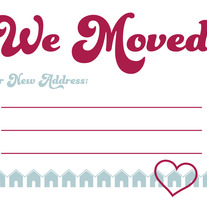 We Moved Postcards - Hearts