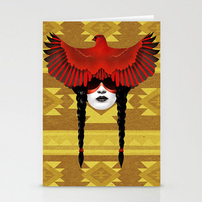 Cardinal warrior 3 pack greeting cards, matching envelopes included