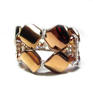 Metallic Bronze Glass Bead Bracelet 183 Sophisticates Closet 183 Online Store Powered By Storenvy