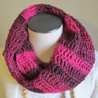 Crochet Cowl/Hooded Scarf/Infinity Scarf Made with Red ...