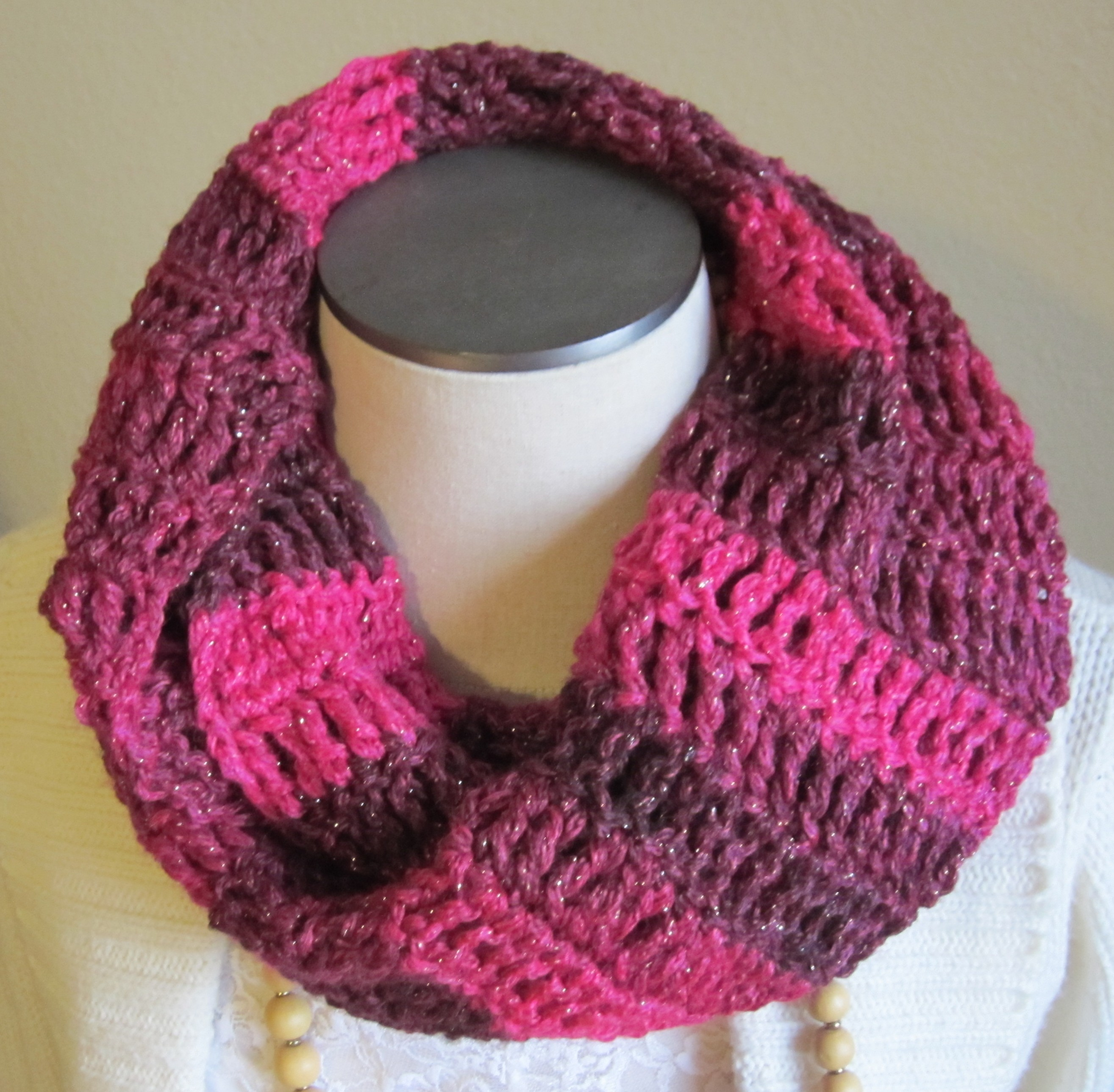 Crochet Cowl/Hooded Scarf/Infinity Scarf Made with Red Heart ...