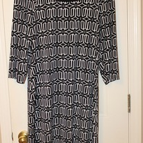 Tiana B. Patterned Jersey Dress- Mod, Large