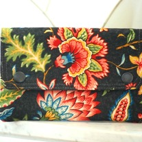 Double Snap Wallet - Midnight Flowers