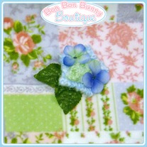 Blue & Green Flowery Star