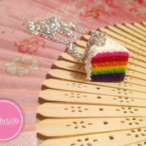 Rainbow Cake Charm Necklace