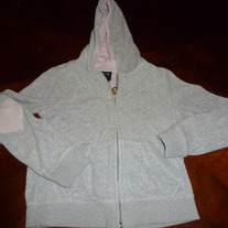 GRAY GAP KIDS HOODED SWEATSHIRT-SIZE M (8)