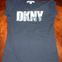 DKNY BLACK SHIRT-SIZE MEDIUM