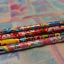 Cute Pencils With Bow & Heart Charm
