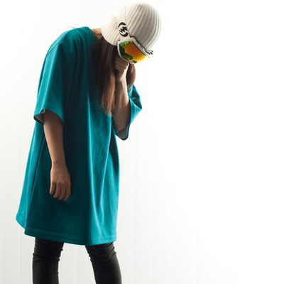 Ehoto ski & snowboard plain tall tee - bluegreen
