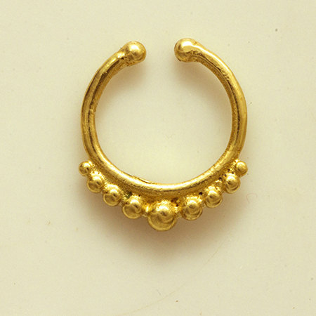 Unique brass septum for non pierced nose body jewelry septum jewelry indian nose ring - Decorative septum jewelry ...