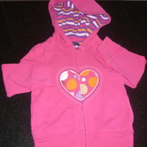 Hot Pink Hoodie with Heart-Baby Gap Size 4T