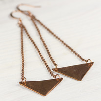 Triangles Long Earrings