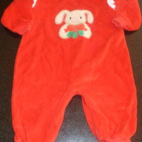 Christmas Outfit-Bunny with Holly-Honors Baby size 9 Months