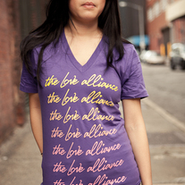 Purple Logo V-Neck