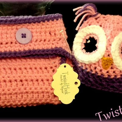 Adorable newborn owl set