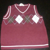 Burgundy Sweater Vest-Crazy 8 Size 2T