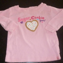 Pink Sugar Cookie Shirt-Baby Gap Size 6-12 Months