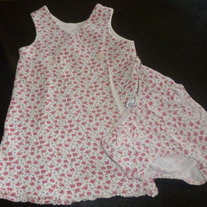 Pink Flower Dress with Matching Bloomers-Baby Gap Size 18-24 Months
