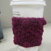 Magenta Bobble Coffee Cup Cozy
