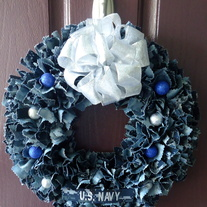 Holiday Navy BDU Wreath