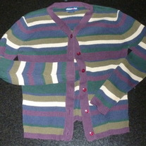 Green/Purple/Blue Creme Cardigan-Limited Too Size XS/8