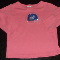 Pink Princess Shirt with floating glitter-Baby Gap Size 12-18 Months