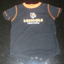 Bengals Football Onesie-NFL Team Apparel Reebok Size 18 Months