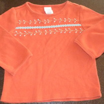 Orange Shirt with Blue Design-Baby Gap Size 12-18 Months