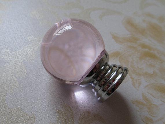 Pink Glass Knob Crystal Dresser Drawer Knobs Pulls Handles Cabinet