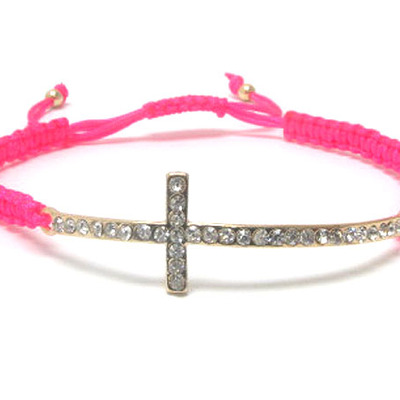 Hot pink friendship bracelet