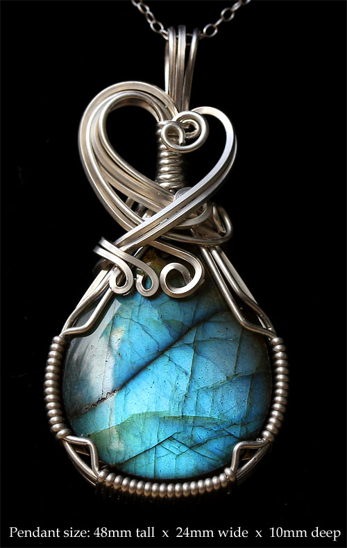 Genuine sterling silver jewelry - Artisan Jewelry Moonstone and Sterling Silver Necklace