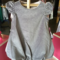 Biscotti By Kate Mack Silver Dress w/Tiny Diamonds