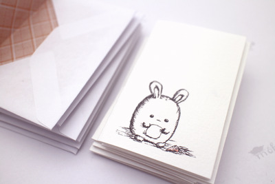 *sold* fat bunny note cards set of 6