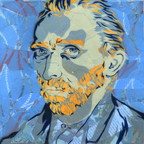 Vincent (blue, framed)