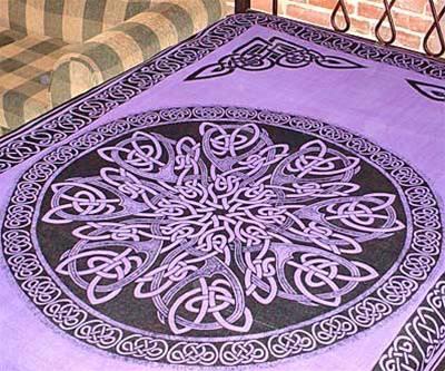 CELTIC Infinity Endless Knot Medieval MANDALA Purple Pagan Wicca Altar  Cloth Hippie Boho TAPESTRY Bedspread 72. CELTIC Infinity Endless Knot Medieval MANDALA Purple Pagan Wicca