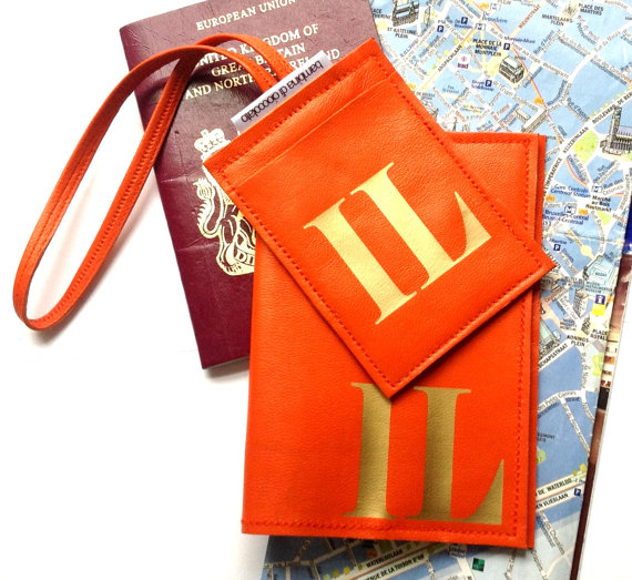Sasha Personalized Leather Passport Cover & Personalized Luggage ...